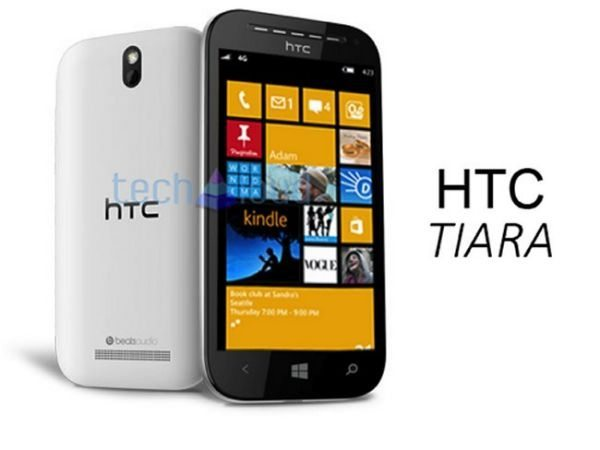 HTC Tiara 4.3-inch WP8 smartphone photo, looks classic
