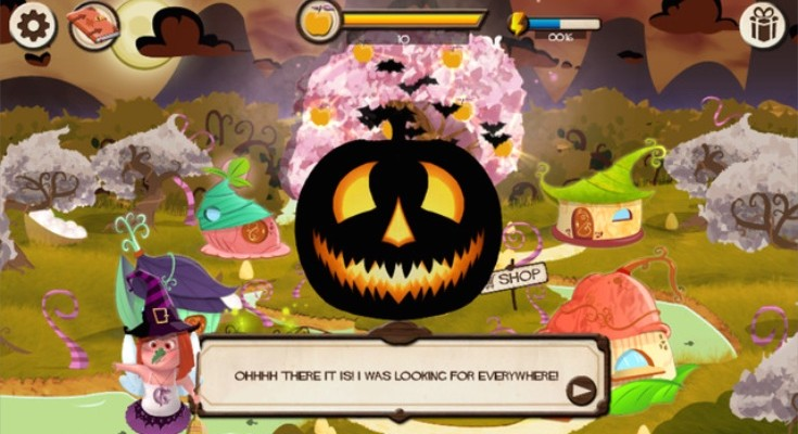 Halloween coloring and games, free apps for iPhone, iPad