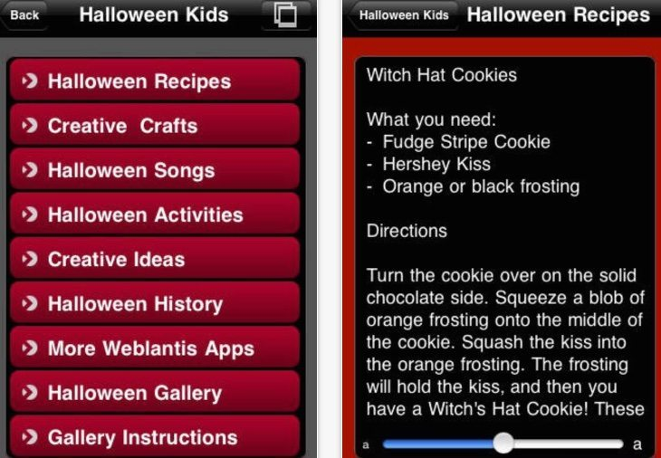 Halloween kids apps for iPhone b