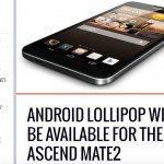 Huawei Ascend Mate 2 Android 5.0 Lollipop update confirmed