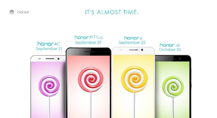Huawei Honor 4X, 4C, 6, 6 Plus Android Lollipop