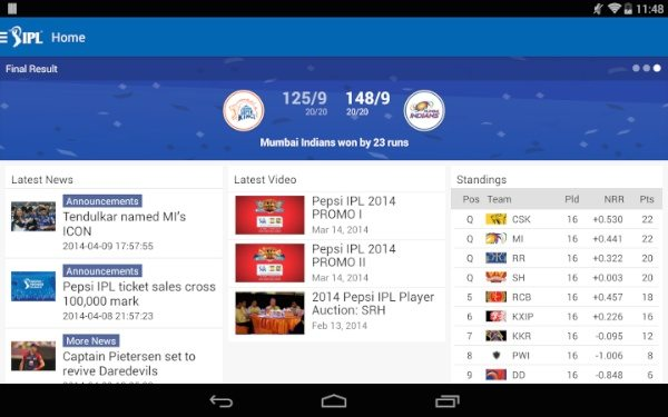 Official IPL app offers live scores and more