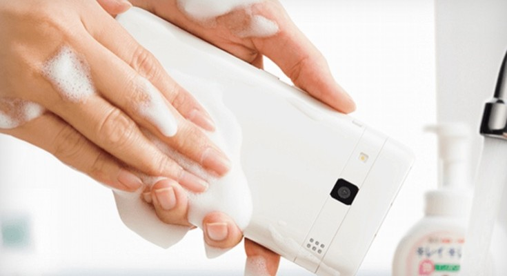 Kyocera Digno Rafre phone is soap proof, cheesy video included