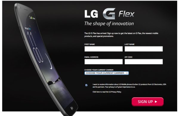 LG G Flex official US carriers, price MIA