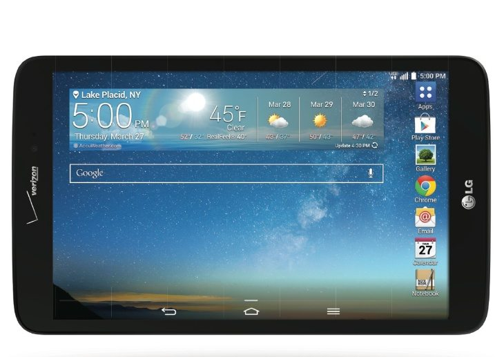 LG G Pad 8.3 on Verizon gets Android 4.4 update