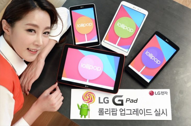LG G Pad Series Android Lollipop Update News