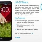 LG G2 low contract price with TalkTalk in UK