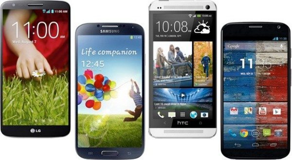 LG G2 vs. Galaxy S4, Moto X, HTC One on paper