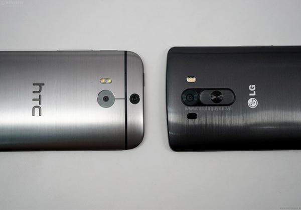LG G3 meets HTC One M8 in size comparison