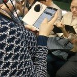 LG G3 spotted in use on subway in new case
