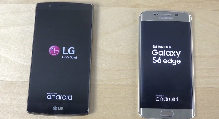 LG G4 vs Galaxy S6 Edge vs HTC One M9 bootup speed tests