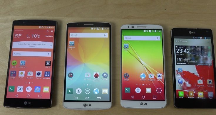 LG G4 vs LG G3 vs G2 vs Optimus G benchmark speed comparison