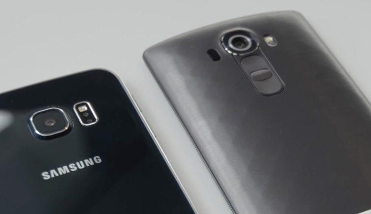 LG G4 vs Samsung Galaxy S6 b