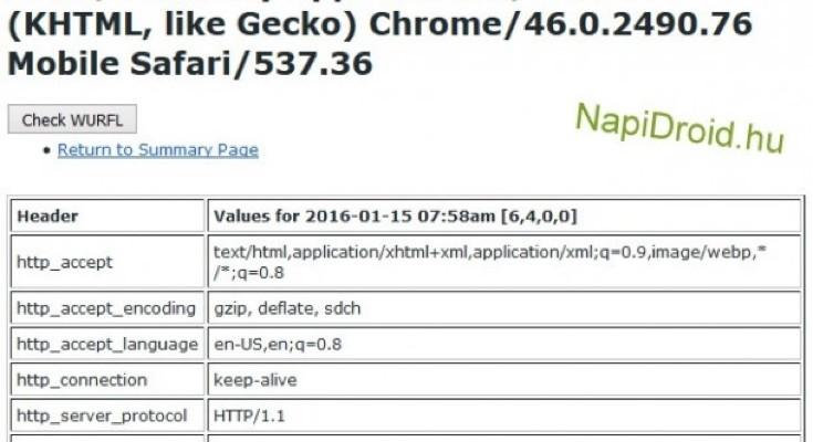LG G5 prospect (LG-H830) in user agent profile spot