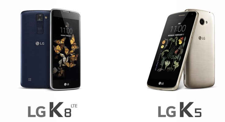 LG K5 and LG K8 specs officially announced