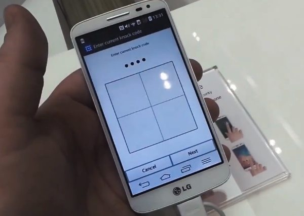 LG Knock Code feature demo on video