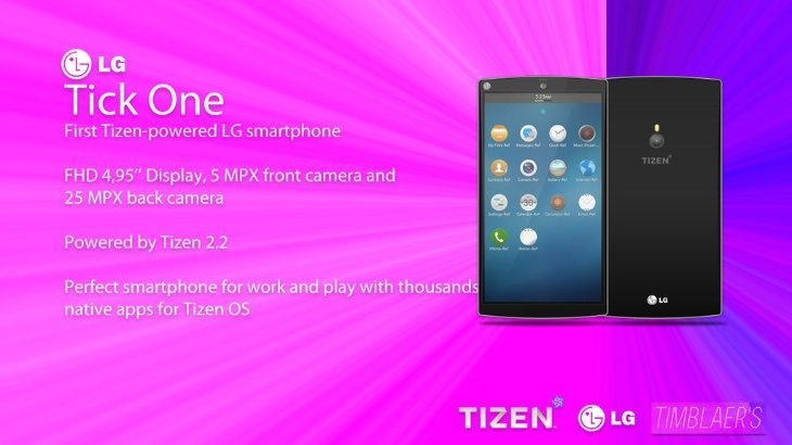 LG Tick One Tizen phone inspired by Nexus 5 and G3
