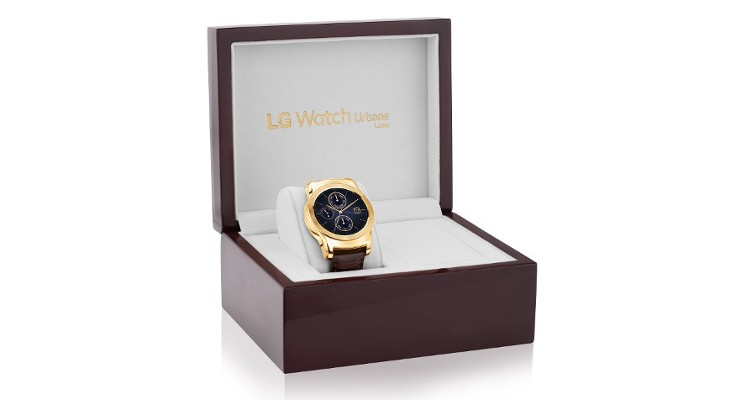 LG shows off the LG Watch Urbane Luxe, an expensive Gold smartwatch