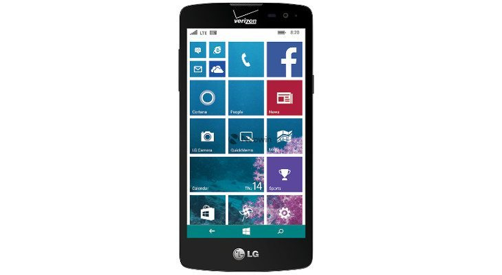 LG Windows phone surfaces with Verizon branding