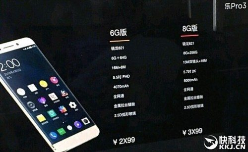 8GB RAM LeEco Le Pro 3 also in the Making?