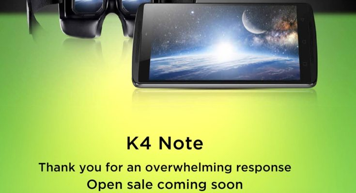 Lenovo K4 Note on open sale in India from February 15
