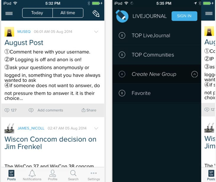 LiveJournal-down-iphone-app-down