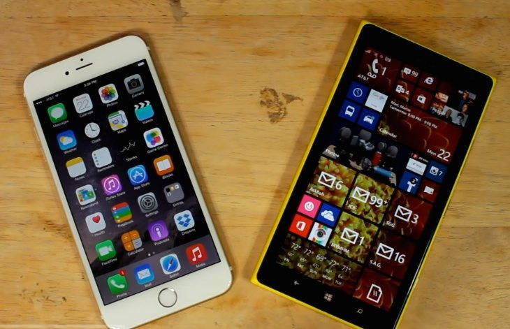 Lumia 1520 vs iPhone 6 Plus