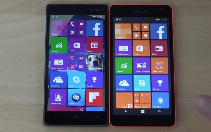 Lumia 830 Windows 10 vs Lumia 535 WP 8.1 bootup test