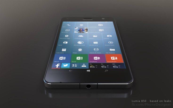 Lumia 850 3D renders b