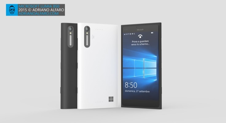 New Lumia 850 design is pure concept