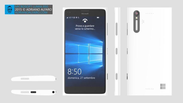 Lumia 850 design c