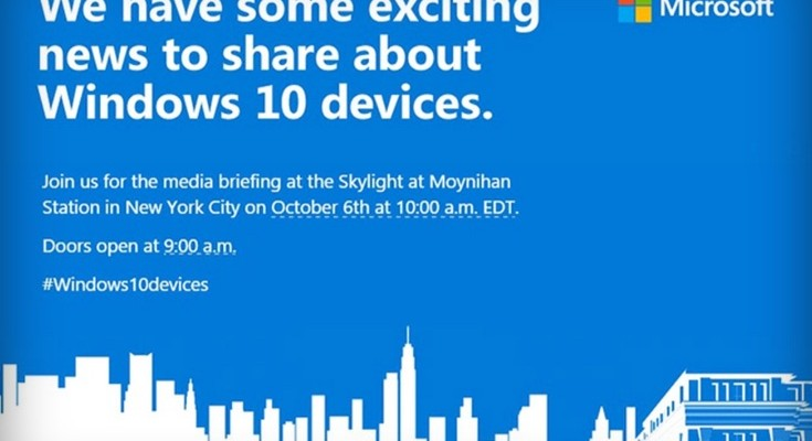 Lumia 950, 950 XL official unveiling set for October 6 event