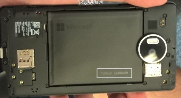 Lumia 950 XL images shows removable battery