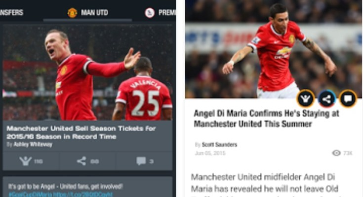 Man Utd transfer news app