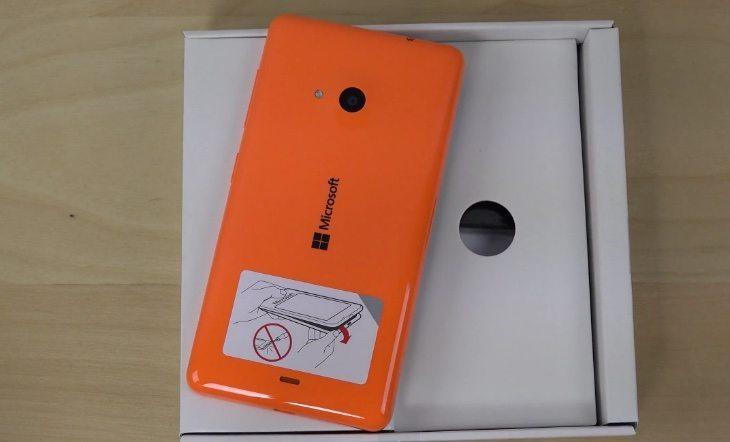 Microsoft Lumia 535 unboxing b