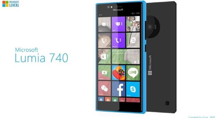 Microsoft Lumia 740 design