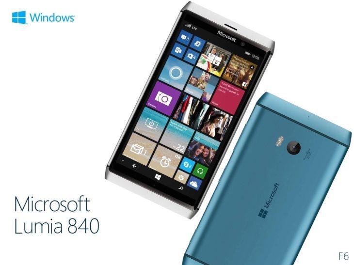 Microsoft Lumia 840 design