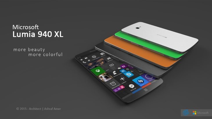 Microsoft Lumia 940 XL design b