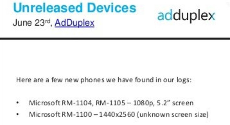 Microsoft Lumia 940 and XL seemingly confirmed
