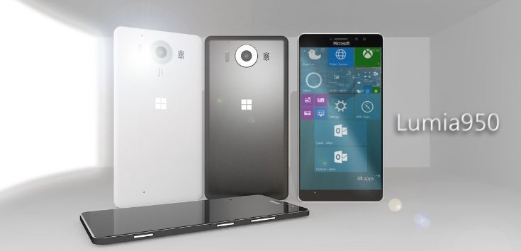 Microsoft Lumia 950 prototype design b