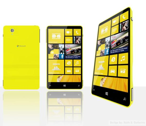 Microsoft Surface phone idea via Lumia concept