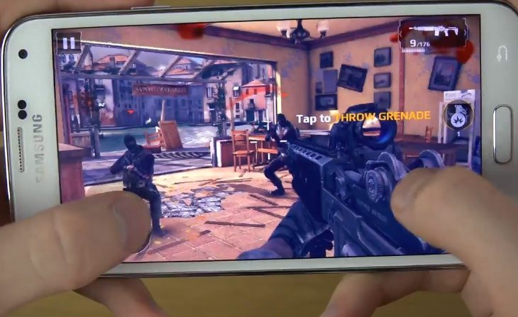 Modern Combat 5 gaming review on Galaxy S5 and Note 3