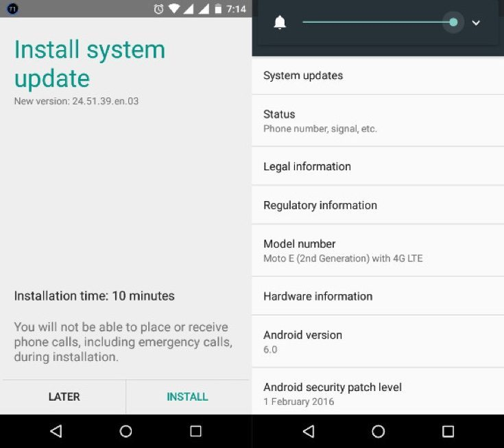 Moto E 2nd gen Marshmallow update