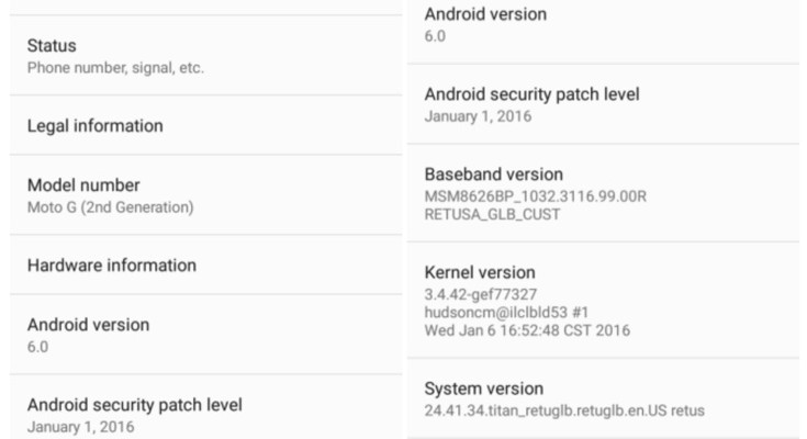 Moto G 2nd gen in US is now receiving Android Marshmallow update