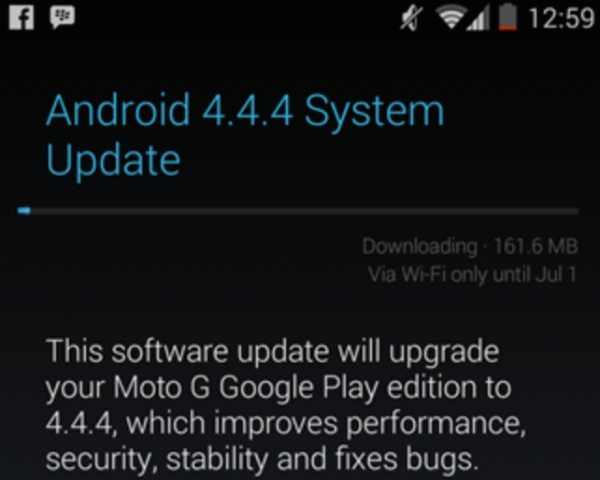 Moto G Android 4.4.4 update for GPe arrives