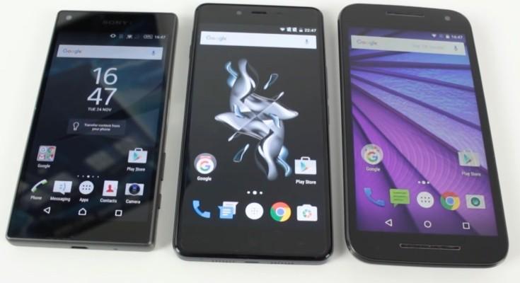 Moto G vs vs OnePlus X vs Xperia Z5 Compact in mini clash