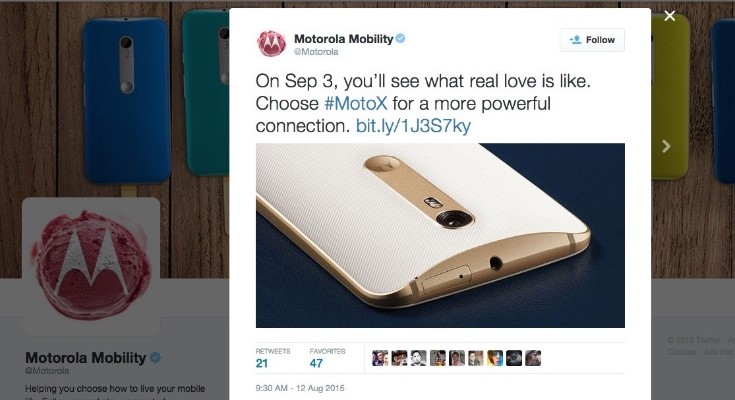 Moto X Pure Edition release date seemingly revealed