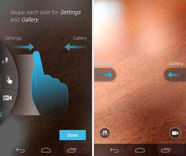 Moto X camera UI focuses on gestures, controls