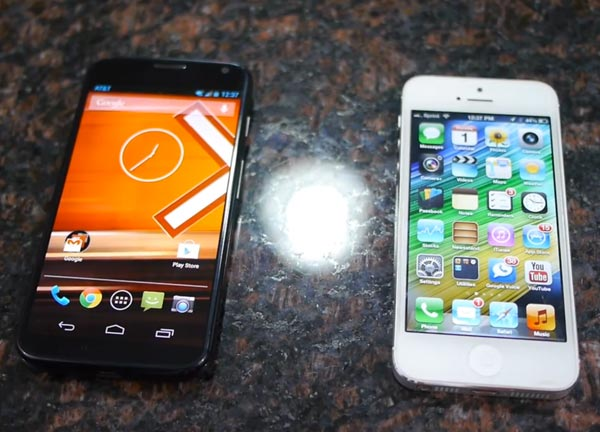 Moto X phone vs. iPhone 5 for budget price point