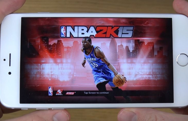 NBA 2K15 review of gameplay iPhone 6, 6 Plus